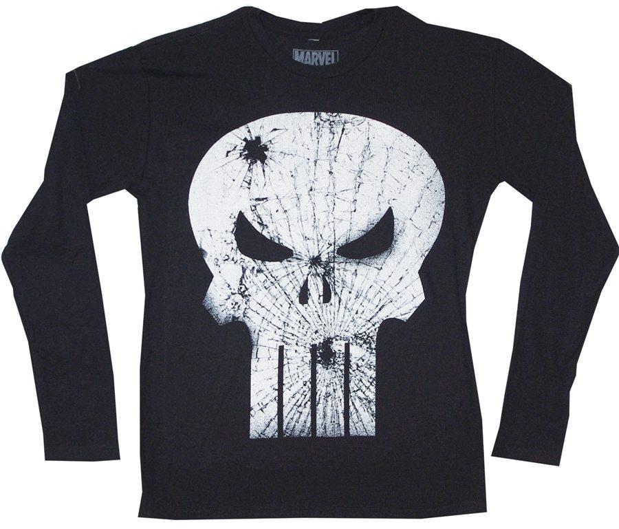Punisher Broken Skull Logo Long Sleeve Thermal T-Shirt