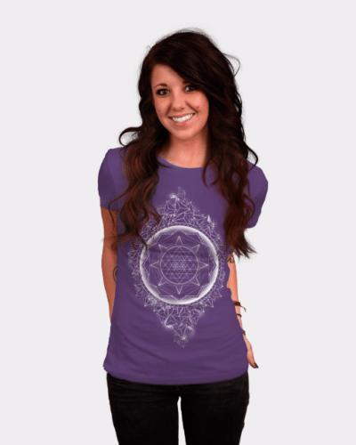 Sacred Geometry – Sri Yantra- halftone