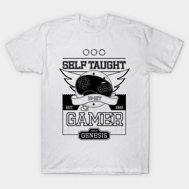 Self Taught Gamer Since The Genesis (BLACK)