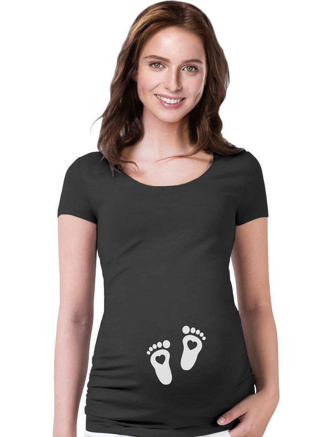 Very Cute Baby Footprints – Pregnant Mom to Be – Maternity Shirt