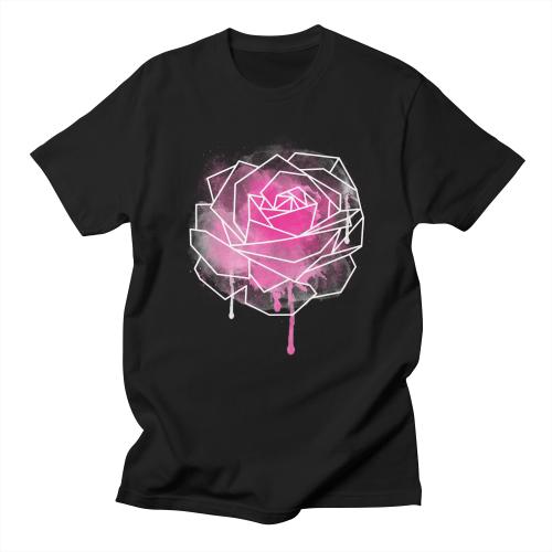 Watercolor Geo Rose Men's T-shirt