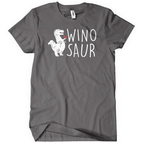 Winosaur Funny Wine Drinking Dino