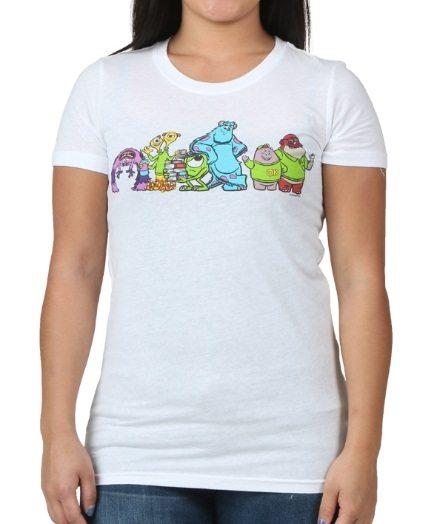 Womens Monsters University Groupshot White T-Shirt