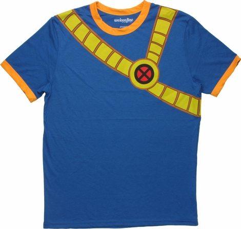 X Men Cyclops Costume Ringer  Sheer