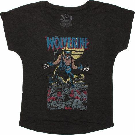X Men Wolverine Sword Quest Ladies Tee