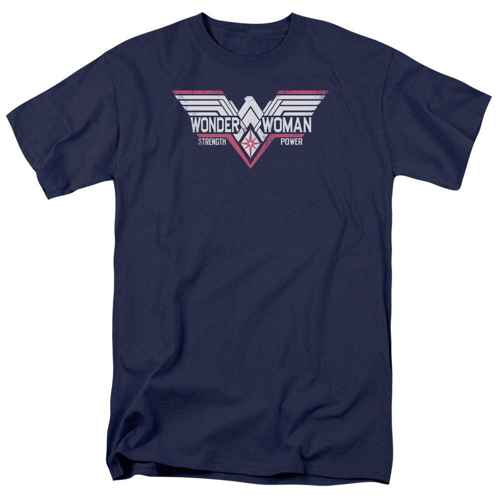 Batman Vs Superman t-shirt Wonder Woman Thunder Logo mens navy