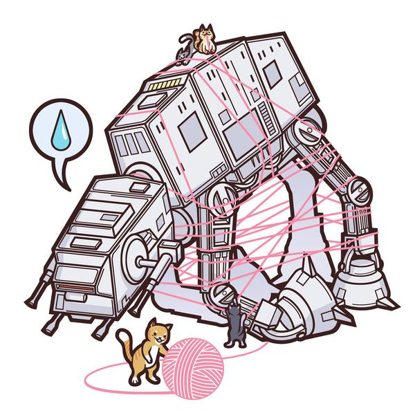 Cats vs. AT-AT Walker (Ladies/White)