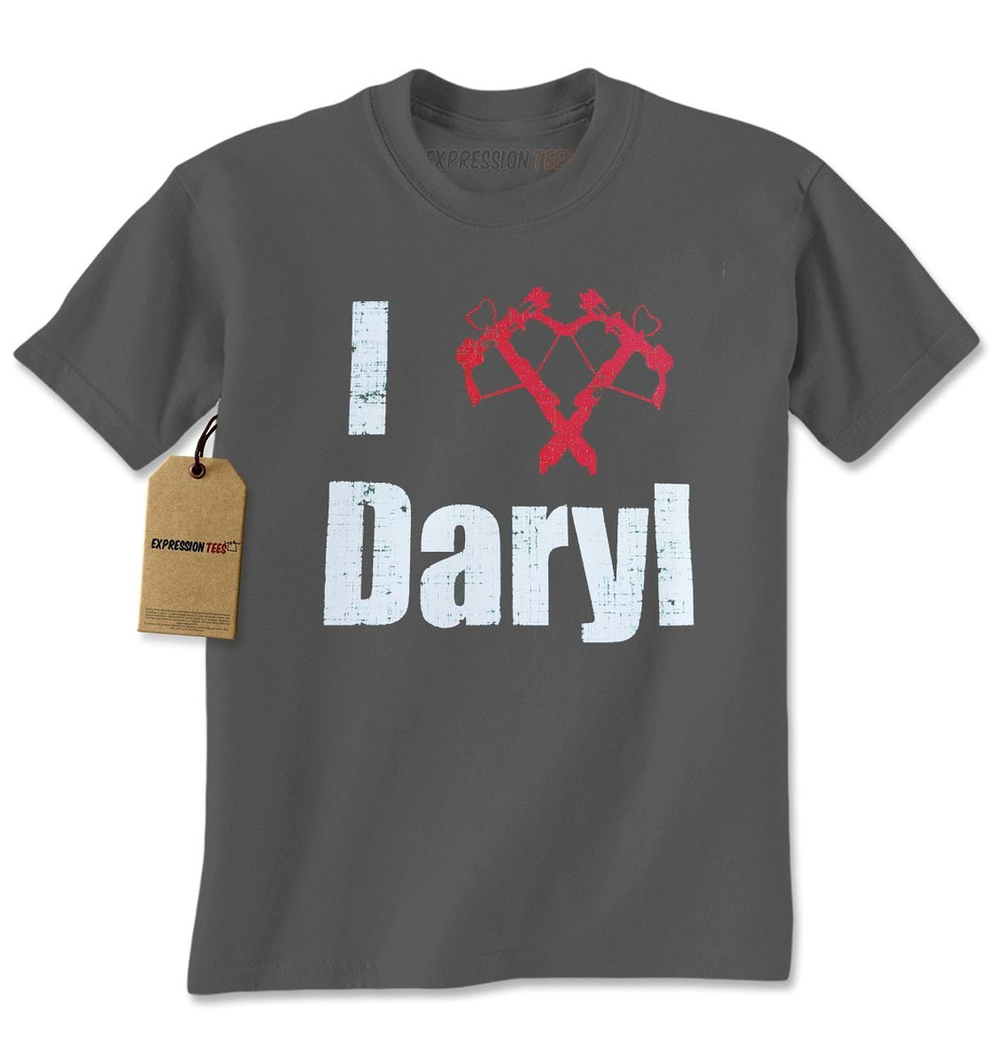 Expression Tees I Love Daryl (Crossbow) Mens