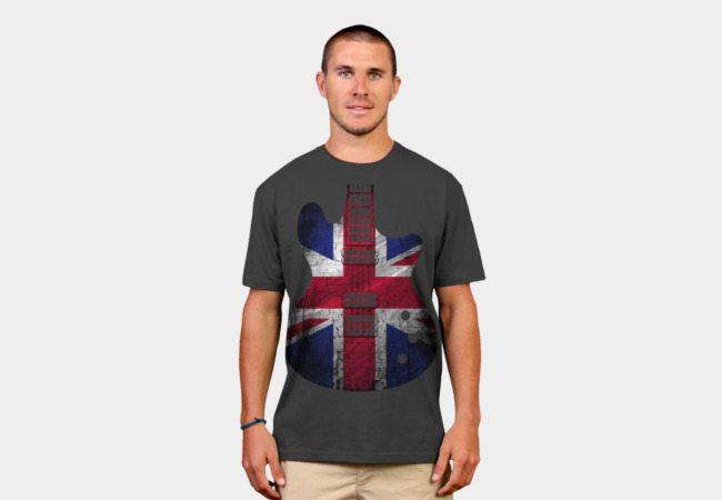 Flag United Kingdom Guitar