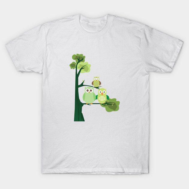 Green Owls T-Shirt