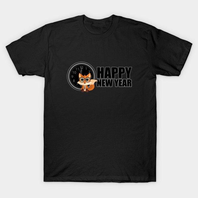 Happy New Year – Fox Nerd T-Shirt