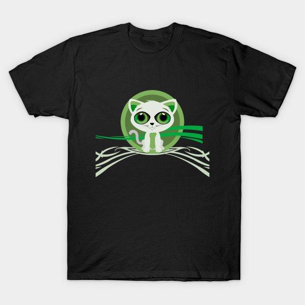 Kitten – Green T-Shirt