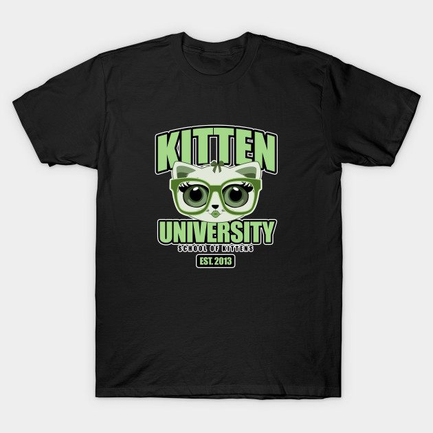 Kitten University – Green T-Shirt