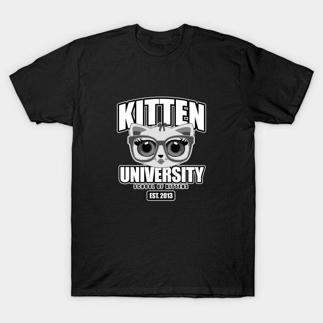 Kitten University – Grey T-Shirt