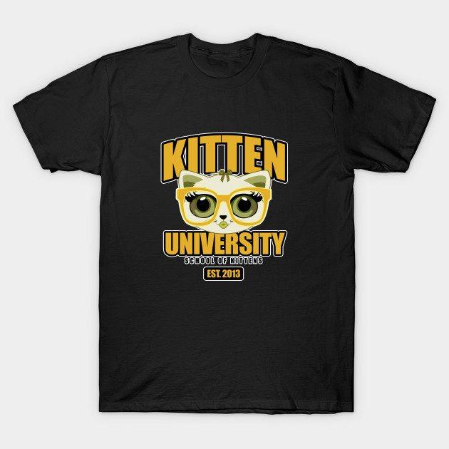 Kitten University – Yellow T-Shirt