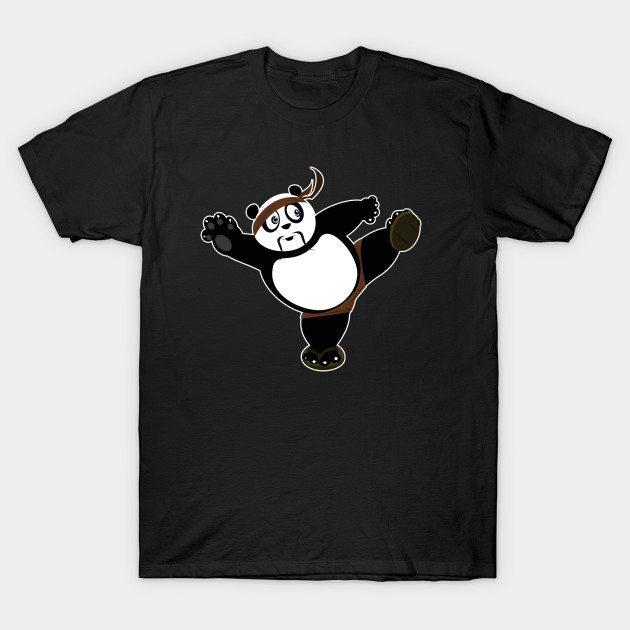 Martial Arts Panda 2 – Brown T-Shirt
