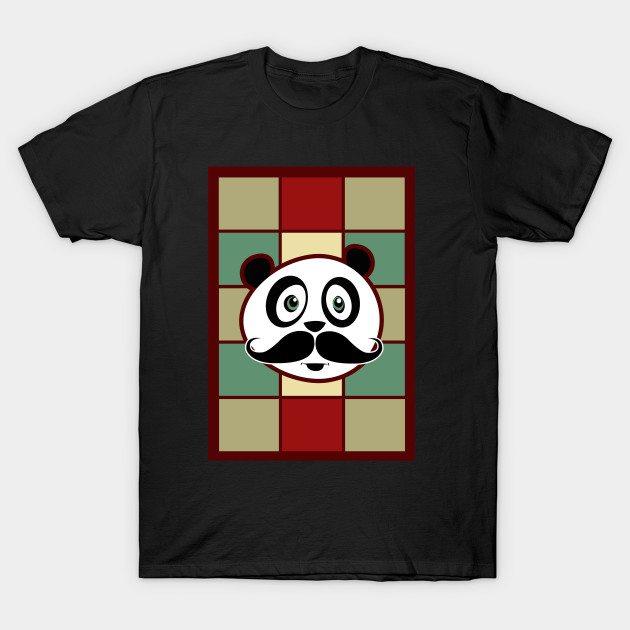 Mustache Panda 2 T-Shirt
