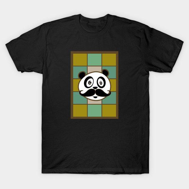Mustache Panda 4 T-Shirt