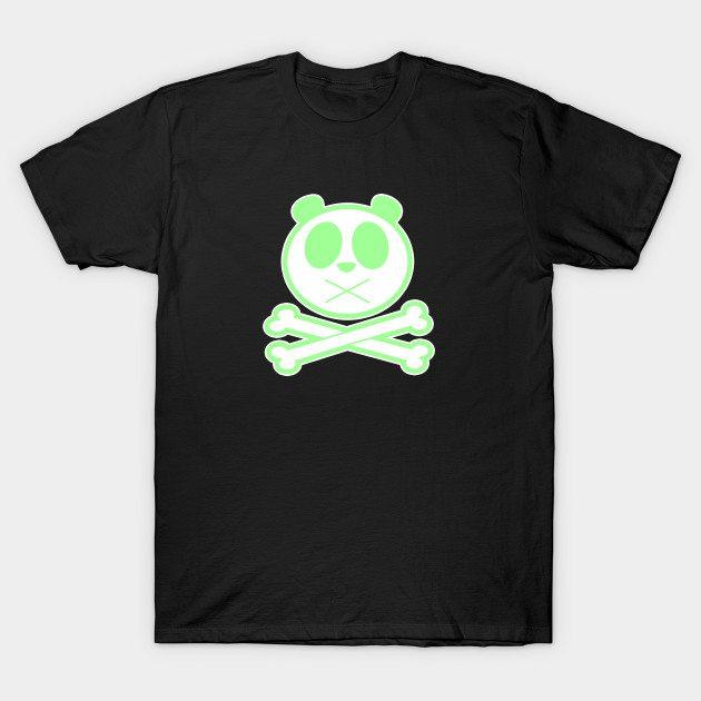 Panda Cross Bone – Green T-Shirt