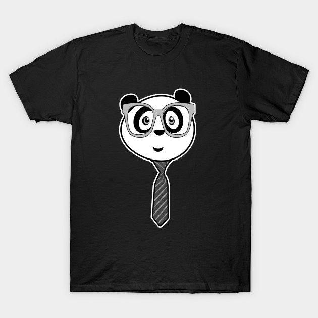 Panda Nerd – Black and White T-Shirt