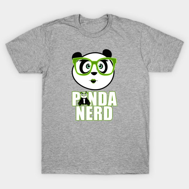 Panda Nerd Girl – Green T-Shirt