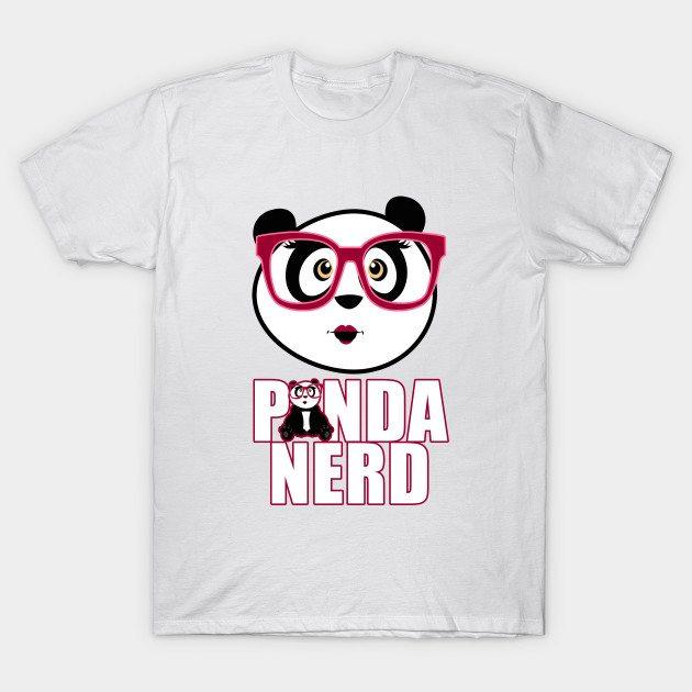 Panda Nerd Girl T-Shirt