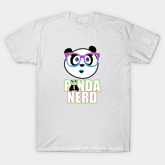 Panda Nerd – Rainbow T-Shirt