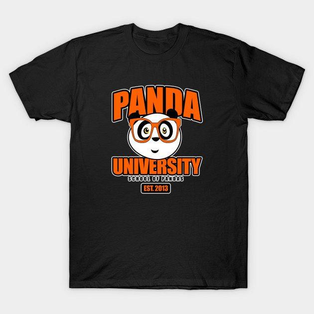Panda University – Orange T-Shirt