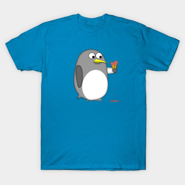 Penguin realizes the effects of global warming T-Shirt