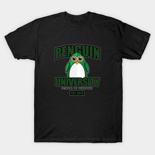 Penguin University – Green T-Shirt