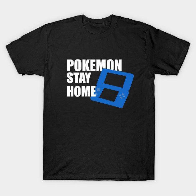 Pokemon Stay Home (Blue) T-Shirt