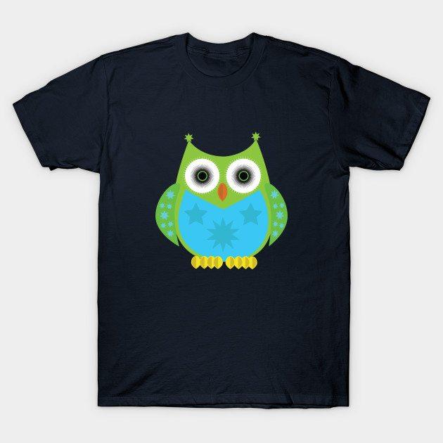 Star Owl – Green T-Shirt