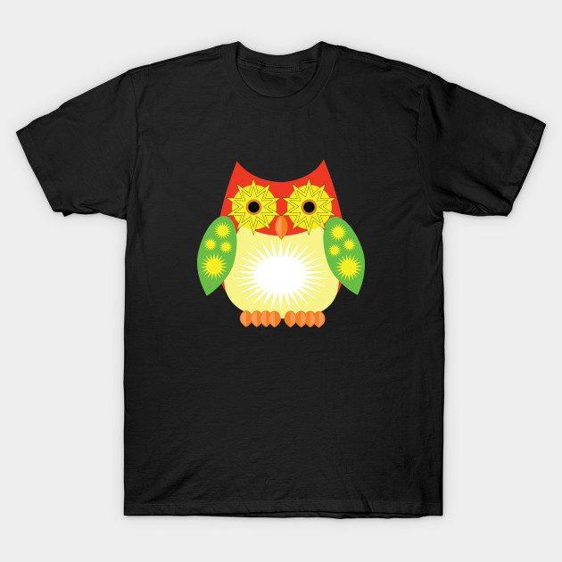 Star Owl – Red Yellow Green T-Shirt