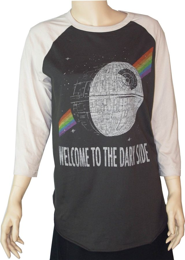 Star Wars Welcome to the Darkside Raglan T-Shirt by Junk Food