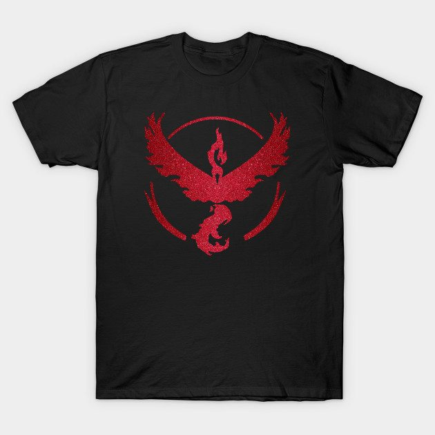 Team Valor Sparkly red sparkles T-Shirt