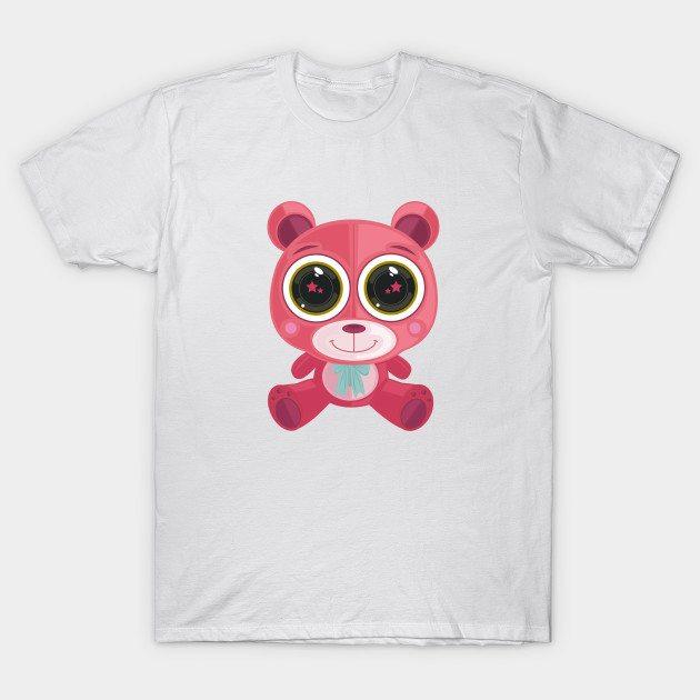 Teddy Bear – Star Eye Pink T-Shirt