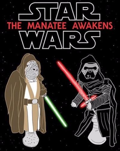 The Manatee Awakens T-Shirt (Ladies)