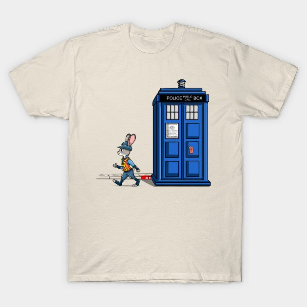 The Tardis Gets A Ticket T-Shirt