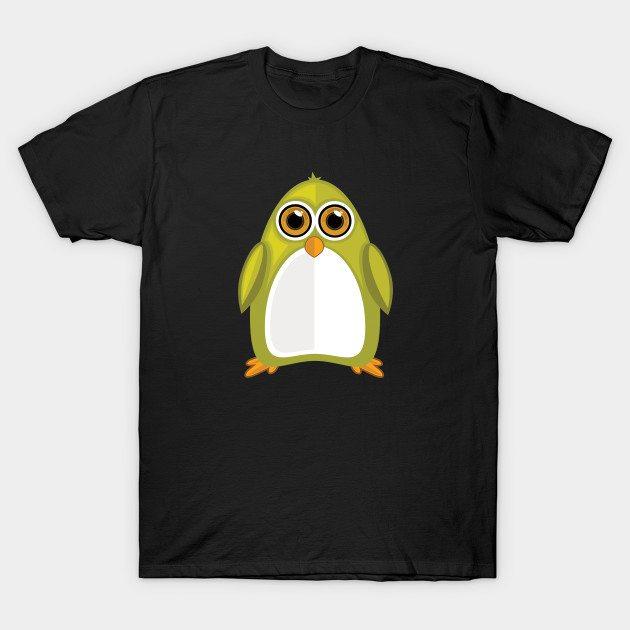 Yellow Green Penguin T-Shirt