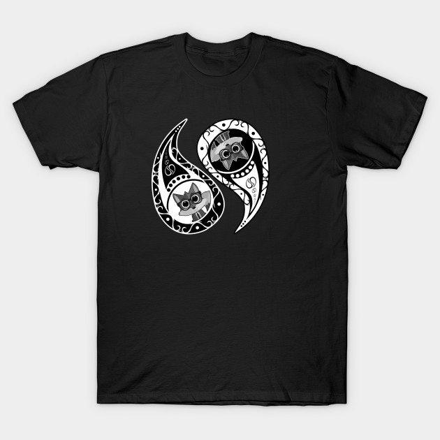 Yin-Yang Fox Nerd T-Shirt
