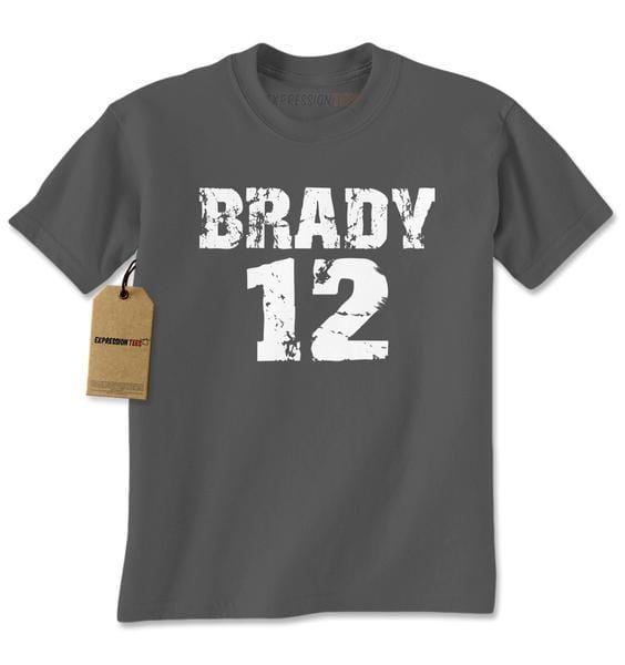 Brady #12 New England Football Mens T-shirt