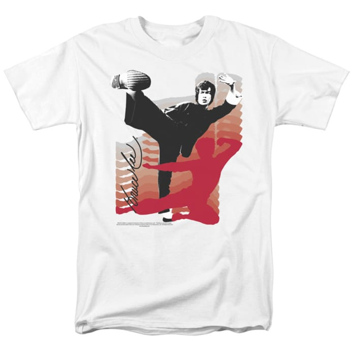 Bruce Lee t-shirt Kick It mens white