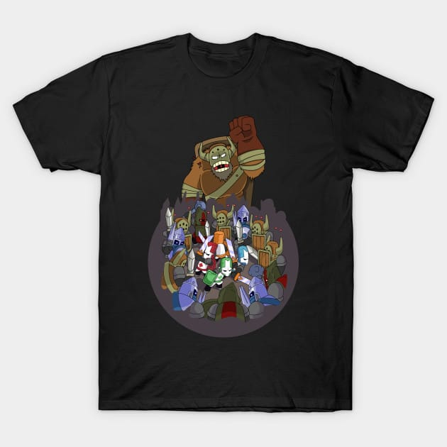 Castle Crashers 4 Swords Style T-Shirt