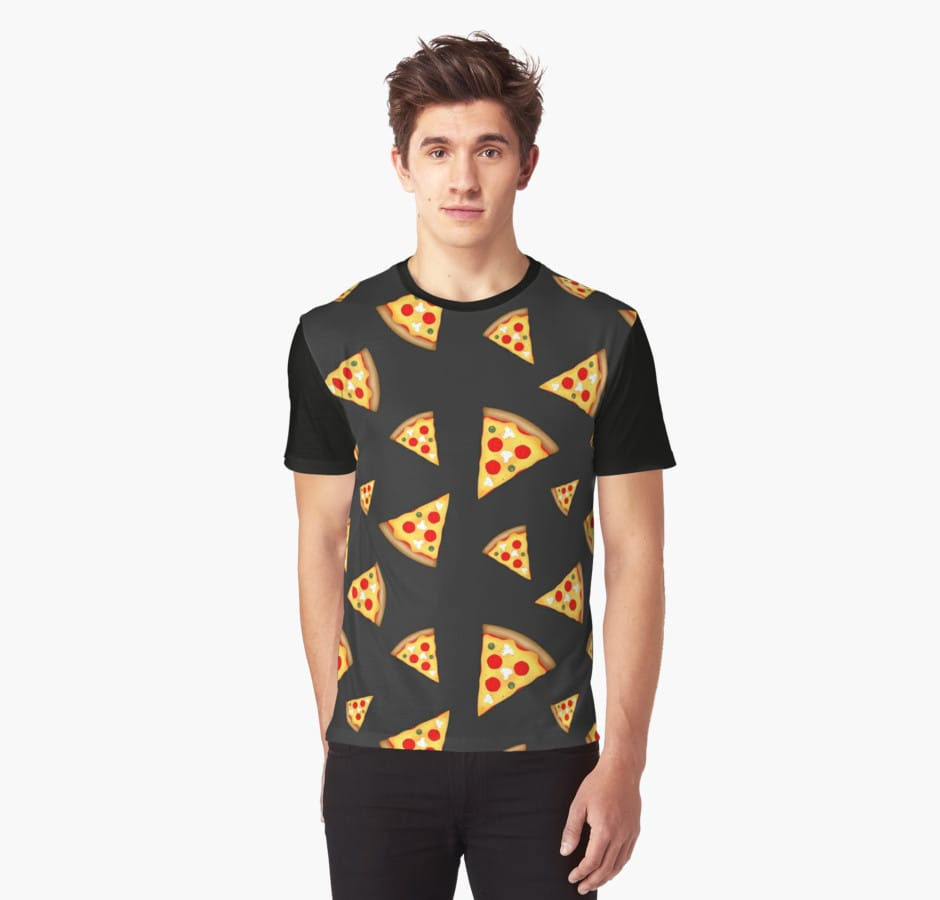 Cool and fun pizza slices pattern