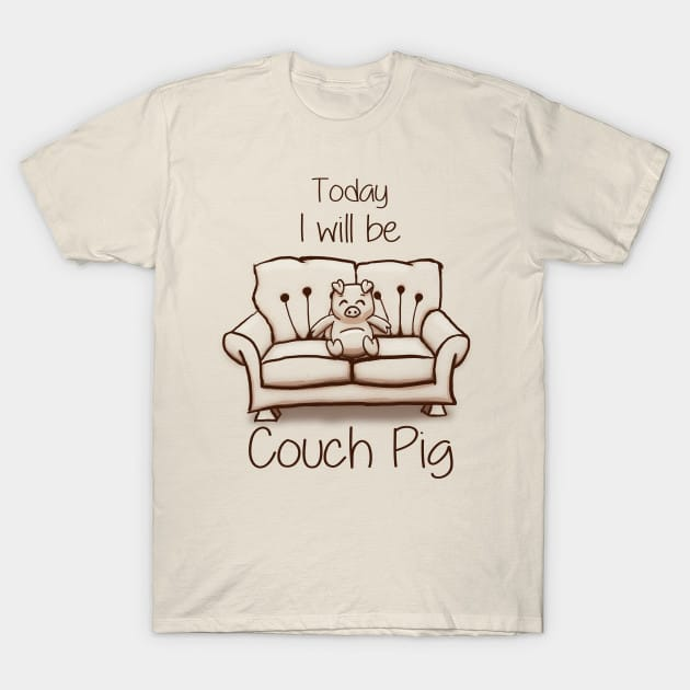 Couch Pig (Monochrome) T-Shirt