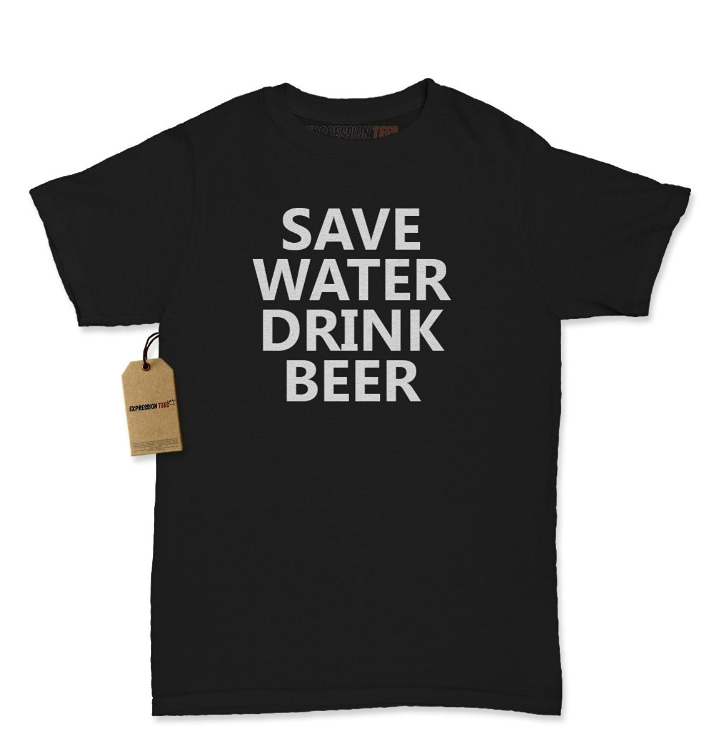 Expression Tees Save Water Drink Beer Womens