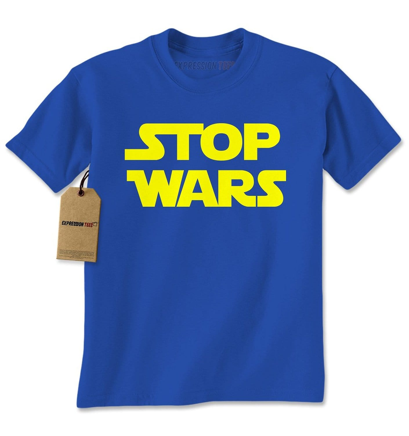 Expression Tees Stop Wars Now Mens