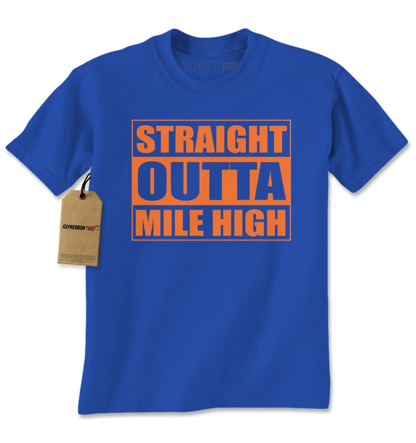 Expression Tees Straight Outta Mile High Denver Mens