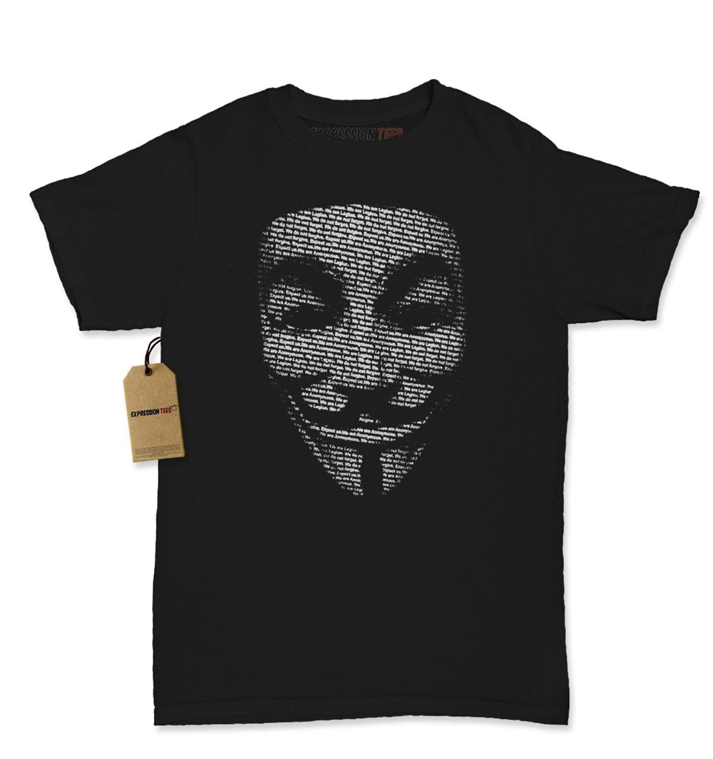 Expression Tees V for Vendetta / Guy Fawkes Mask Womens