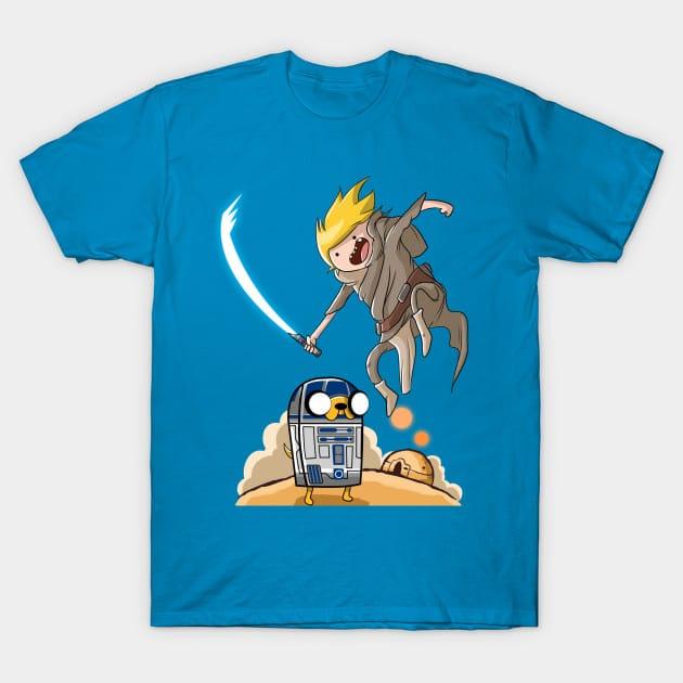 Finn Skywalker and Jake2D2. T-Shirt